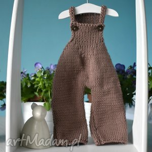 spodnie ogrodniczki dla lalki albo dla misia ok 40 cm - spodnie, ogrodniczki, miś