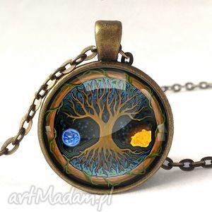 siła natury - medalion z łańcuszkiem - symboliczny, naszyjnik