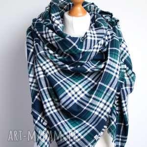 chusta flanelowa w kratkę, modna szal bawełniana, chusta, szalik, kratkę