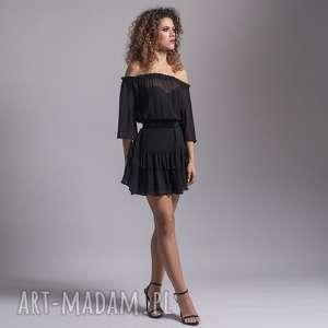 jedwabna sukienka z falbanami, jedwab, wygodna, lekka