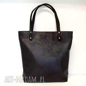 Shopper bag, torba, handmade, modna, czarna, shopper, klasyczna
