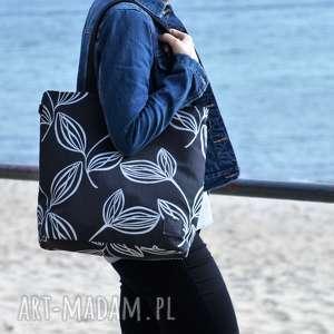 lekka i porĘczna czarna torba z motywem 2708a, torba, torebka, koszyk, na ramię