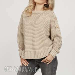 handmade swetry bawełniany sweter - swe223 beż mkm