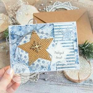 hand made pomysł na upominek piękna kartka święta bożego narodzenia
