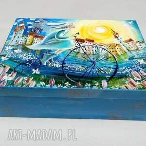 szkatułka poranek dobrych wiadomości, 4mara, obraz, anioł, szkatułka, prezent