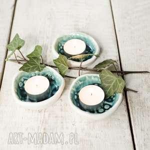 podstawki pod tea light, świeczniki z bielą, świeczniki