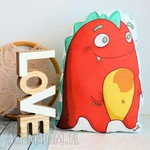 poduszka - zabawka miły dinozaur, poduszka, zabawka, przytulanka
