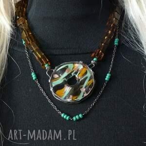 naszyjnik w stylu boho dla miłośniczki stylu bohemy artystycznej efektowny prezent