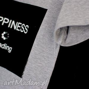 hand made bluzki modna bluzka koszulka szara z napisem nadrukiem