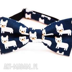 mucha sweet bulldog, mucha, krawat, urodziny, imieniny, prezent, impreza, unikalny