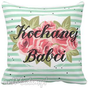 poduszki poduszka na dzień babci róże dla kochanej 6700, poszewka, dzień