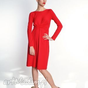 Cristina - sukienka kolory, jersey, wyszczuplające