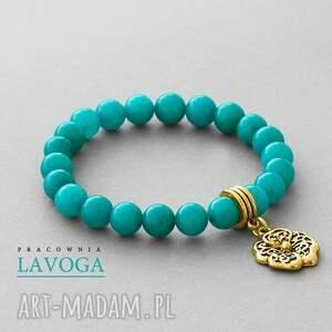 handmade bransoletki jade with pendant in turquoise