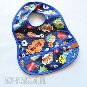 handmade dla dziecka śliniak boom bang