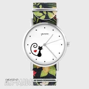 Zegarek - kotek, serce kwiaty, nato zegarki yenoo zegarek