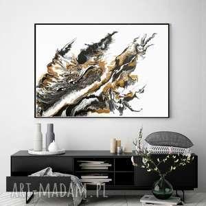 - burza piaskowa abstrakcyjny obraz ręcznie malowany na płótnie 100x70 cm
