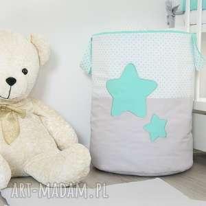 handmade pokoik dziecka kosz na zabawki słodkie sny mięta