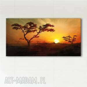 obraz - afryka 1 płótno malowany, pejzaż, krajobraz, obraz, obrazy