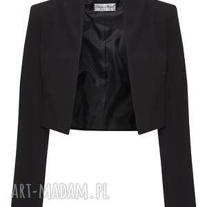 eleganckie czarne bolerko, dopasowane, eleganckie, ponadczasowe