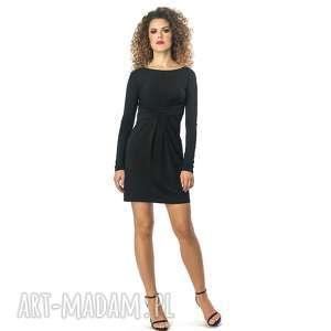 cristina mini - black, elastyczna, wyszczuplająca, elegancka