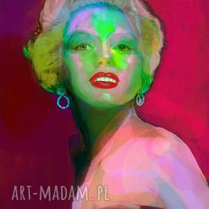 Kolory Marylin, marylin, obraz, unikatowy, monroe, nowoczesny, ekspresja