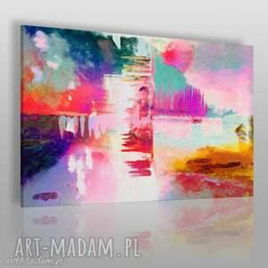 obrazy obraz na płótnie - abstrakcja kolory 120x80 cm 16701, pastele