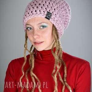 dreadlove mono 14, czapka, zima, ciepła, dredy, dready, róż