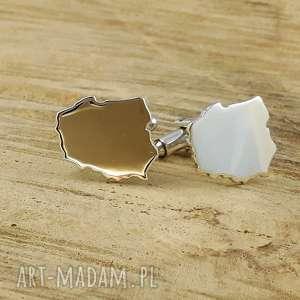 ręczne wykonanie męska srebrne spinki do mankietów w kształcie