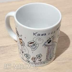 "Kubek ""kawa czy herbata"" kubki marina czajkowska kawa,"