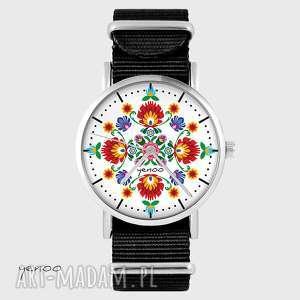 zegarki zegarek - folkowa mandala czarny, nato, zegarek, bransoleta, nato