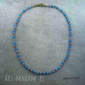 eko minimal - błękitny nszyjnik - delikatny, kobiecy, subtelny, minimalistyczny