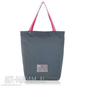 583cfa673ead6a Na ramię handmade różowe.130 zł farbotka torebka shopperka 898, shopperka,  zakupowa, materiałowa, torebka, szara