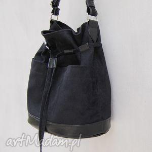 święta prezent, na ramię yocca - torba worek czarna, worek, listonoszka, swobodna
