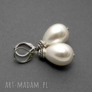 kolczyki z perłą seashell, perła, perełka, duże, wiszące, delikatne, eleganckie
