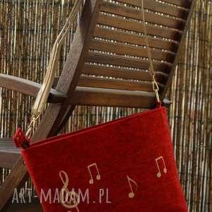 filcowa torba - muzyczny haft, torba, muzyczna, listonoszka, midi, prezent