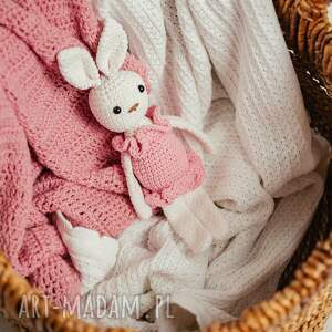 maskotki królik, maskotka na szydełku - biała, królik szydełku