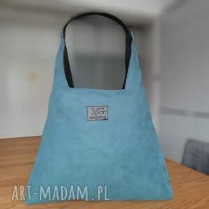 na ramię boba zip xl, kolor morski, designerska wodoodporna duża torba, torebka