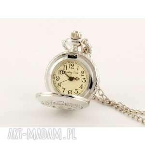 zegarki listki silver, zegarek biżuteria