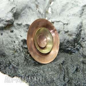 estera grabarczyk miedziany pierścionek talerze-p1, pierścionek, metaloplastyka
