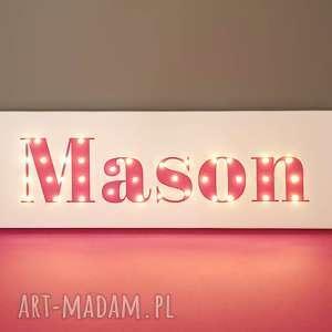 święta prezenty Obraz z imieniem napis LED świecące litery personalizowana dekoracja