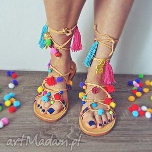 buty 39- zamówienie specjalne dla pani sylwii, sandały, rzymianki, boho, kolorowe