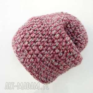 czapka hand made no 028 beanie szydło - casual, ciepła, ręcznie-wykonana