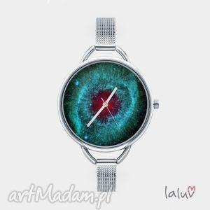 zegarki zegarek z grafiką nebula, bransoleta, kosmos, gwiazdy, wszechświat, niebo