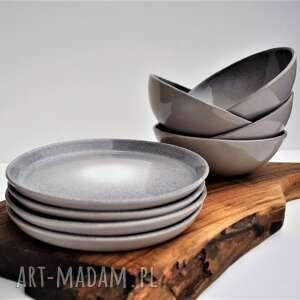 ceramika tyka zestaw ceramiczny - 4 miseczki talerzyki, ceramika, talerz