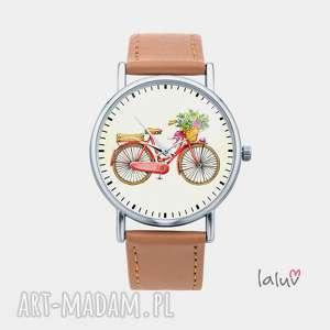 zegarek z grafiką love bike, rower, hobby, sport, jazda, jednoślad, prezent