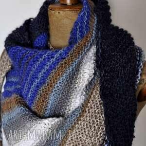 Asymetryczna chusta blue chustki i apaszki the wool art chusta