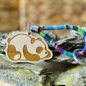 breloki brelok do kluczy boho panda z drewna klon azteq