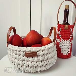 kosz świąteczny ze sznurka na owoce, sznurka