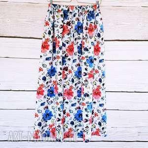 handmade spódnice maxi spódnnica w piękne kwiaty
