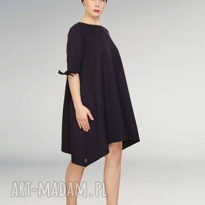 wełniana sukienka z kokardkami, elegancka, prosta, kokardki, dłuższy, wełna